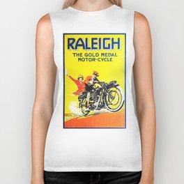 Raleigh Motorcycle, vintage poster Biker Tank
