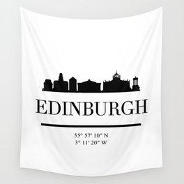 EDINBURGH SCOTLAND BLACK SILHOUETTE SKYLINE ART Wall Tapestry