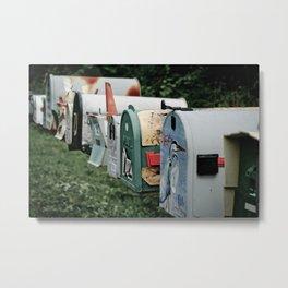 Letter Boxes, Ontario Metal Print