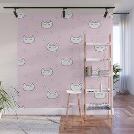 kitty star pattern Wall Mural