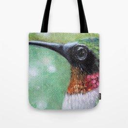 Ruby Throated Hummingbird Original Art Tote Bag