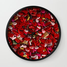 Padlocks of Love Wall Clock