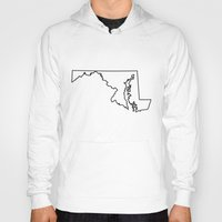 maryland Hoodies featuring Maryland by mrTidwell