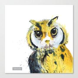 Inky Owl Canvas Print