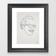 Onbe Line Matrix: Agent Smith Framed Art Print