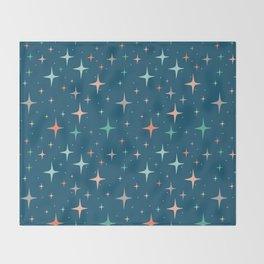 Stars in the night sky Throw Blanket