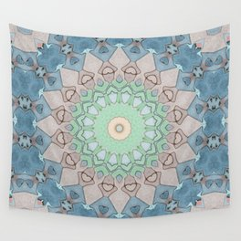 Earth Tone Pastels Mandala Wall Tapestry