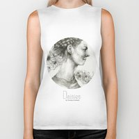 daisies Biker Tanks featuring Daisies by Veronica Cosimetti Art