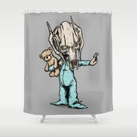 onesie Shower Curtains featuring General Onesie by Albert F. Montoya