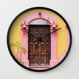 Pink & Yellow Wall Clock
