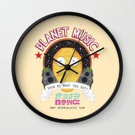Planet Music Wall Clock
