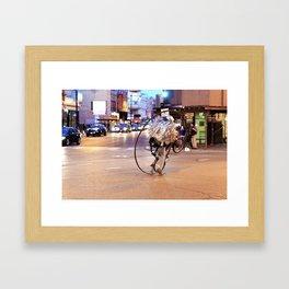 Performance Art on the Streets of Bucktown, Chicago 03 Framed Art Print