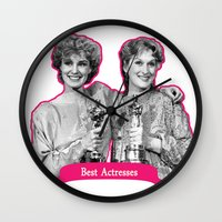 jessica lange Wall Clocks featuring Jessica Lange and Meryl Streep by BeeJL