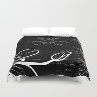 poetry Duvet Covers featuring Keats Poetry by pennyprintables