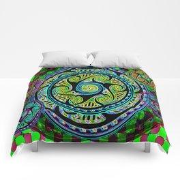 Variated Spheres #1 Psychedelic Celtic Design Comforters