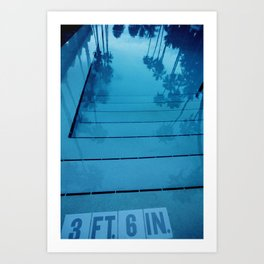 Poolside, Miami.  Art Print