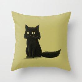 Sitting Cat Throw Pillow