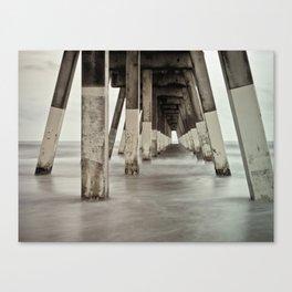 Long Exposure 2 Johnny Mercer's Pier Wrightsville Beach, NC Canvas Print