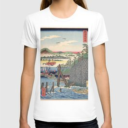 12,000pixel-500dpi - Kawanabe Kyosai - Tokaido, Okazaki - Digital Remastered Edition T-shirt