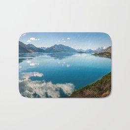 Breathtaking View of Lake Wakatipu in New Zealand Bath Mat