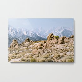 Alabama hills area of Lone Pine California in the Eastern Sierra Nevada Mountains Metal Print