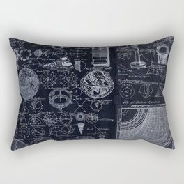 Astronomy Blueprint Diagrams Rectangular Pillow