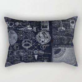 Astronomy Blueprint Diagrams Rectangular Pillow