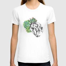 Rock Rose Cat Skull T-shirt