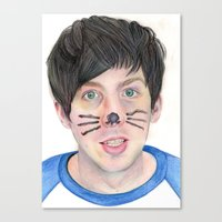 phil jones Canvas Prints featuring Phil by Beth Mellett