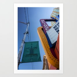 Alliance Theatre, Box Butte Avenue, Alliance, Nebraska Art Print