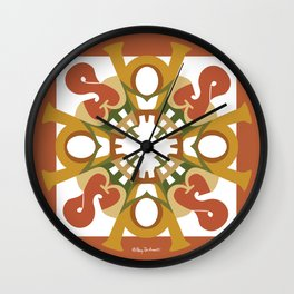 Home Sweet Home Mandala - Fall Colors Wall Clock