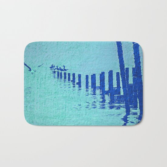 OCEAN BLUE Bath Mat