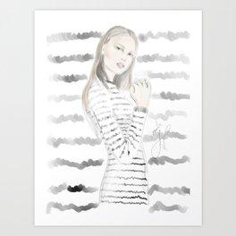 Rayures Seul Art Print