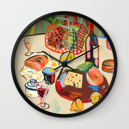 WINE BREAK Wall Clock