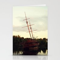 pirate ship Stationery Cards featuring Pirate Ship by BrandiNicole-Photography&Design