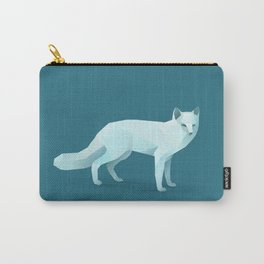 Geometric Arctic Fox - Modern Animal Art Carry-All Pouch