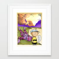 peanuts Framed Art Prints featuring Peanuts  by Anand Brai