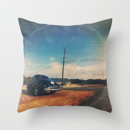 Roadside Classic - America As Vintage Album Art Throw Pillow