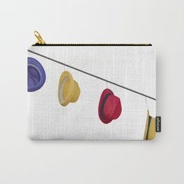 isolated colorful hats hanging at the party Carry-All Pouch