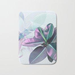 Violet Tropical Plant Bath Mat