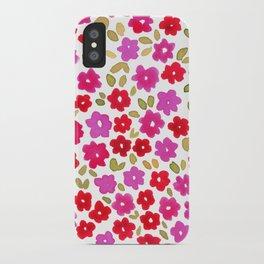 1990 Floral iPhone Case