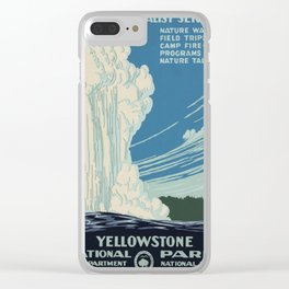 Vintage poster - Yellowstone Clear iPhone Case