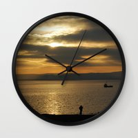 photographer Wall Clocks featuring Photographer by itsthezoe