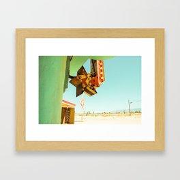 Desert Neon Sign California Framed Art Print