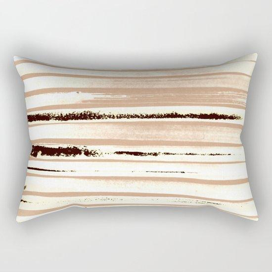 Brown Earth Lines Rectangular Pillow