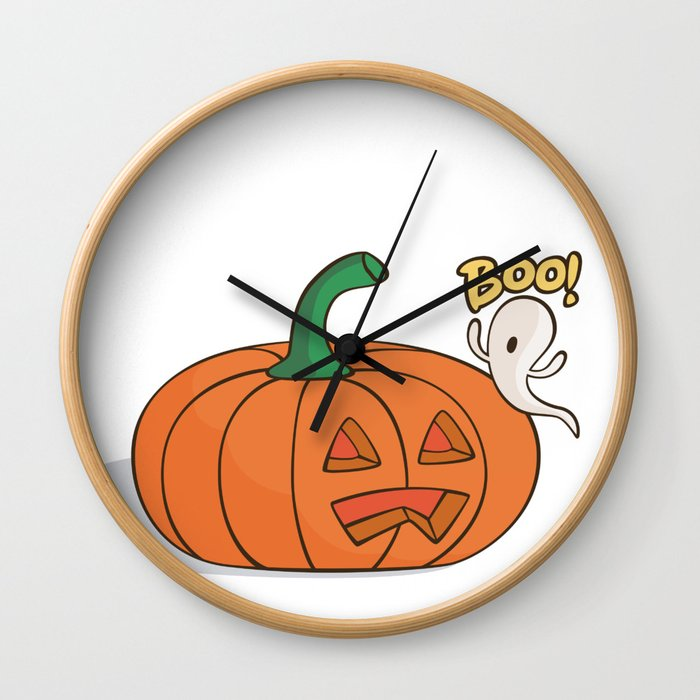 Scared Pumpkin Wall Clock