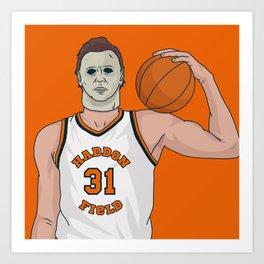 Hoops Legend Michael Myers Art Print