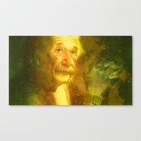 einstein Canvas Prints featuring Einstein by Angelo Lo Presti