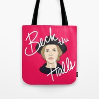 cassia beck Tote Bags featuring Beck the Halls by Chelsea Herrick