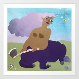 Purple Unitaur Art Print